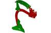 Brazo CLD con punta reversible y aletas anchas